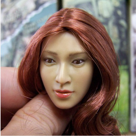 1/6 model HAOYUTOYS 1/6 Asian beauty head sculpt spot for action figures