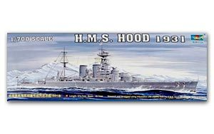 Trumpeter 1/700 scale model 05741 British Royal Navy Hood Battle Cruiser