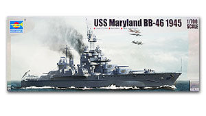 "Trumpeter 1/700 scale model 05770 US Navy Corralado BB-46 ""Maryland"" battleship"