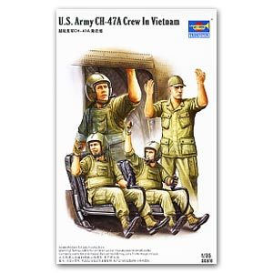 Trumpeter 1/35 scale model 00417 US helicopter crew Vietnam battlefield