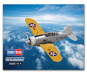 "Hobby Boss 1/72 scale aircraft models 80290 F2A ""buffalo & rdquo; fighter"