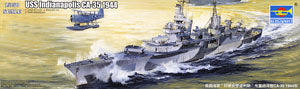 Trumpeter 1/350 scale model 05327 US CA-35 Indianapolis heavy cruiser 1944 *