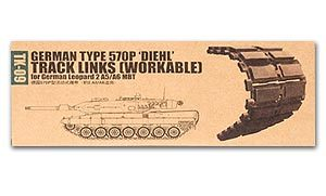 Trumpeter 1/35 scale model 02039 Leopard 2A5 / A6 main battle tank with 570P type stitching activity track