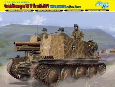 1/35 scale model Dragon 6857 cricket 38H equipped with s.IG.33 / 1 self-heavy infantry artillery early type