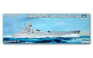 "Trumpeter 1/700 scale model 05751 French Navy ""Richelieu"" battleship 1946"