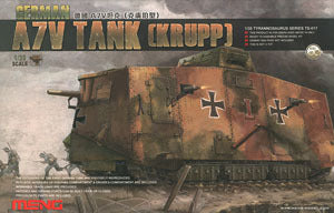 MENG TS-017 battle tanks German A7V assault Krupp type
