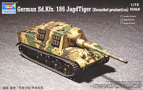 "Trumpeter 1/72 scale model 07254 No. 6 heavy deportation chariot""hunting tiger"" Henscher type"