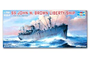 "Trumpeter 1/700 scale model war ship 05756 American ""John F. Brown"" free wheel"