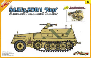 1/35 scale model Dragon 9149 Sd.Kfz.250 / 1 Neu Armored vehicles and Viking Armored division Grenadiers