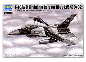 "Trumpeter 1/144 scale model 03911 F-16A / C falcon fighter ""BLOCK15 / 30/32"""