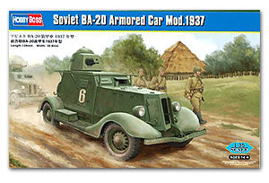 Hobby Boss 1/35 scale tank models 83882 Former Soviet Union BA-20 Armored vehicles 1937 type