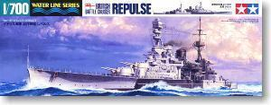 "TAMIYA 1/700 scale model 31617, British Royal Navy prestige class ""REPULSE"" cruiser"
