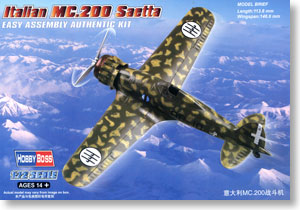 Hobby Boss 1/72 scale aircraft models 80291 Macchi MC.200 & ldquo; lightning & rdquo; fighter