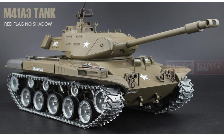 HengLong model 1/16 scale 2.4GHz RC battle tank U.S.M41A3 Ultimate metal version Smoke Sound Metal Gear and Tracks
