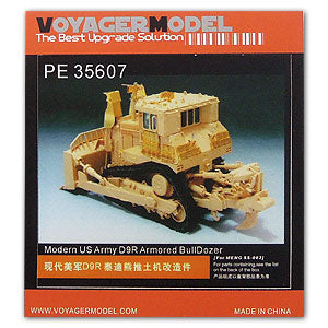 "Voyager model metal etching sheet PE35607 D9R armored bulldozer ""Teddy Bear"" upgraded with metal etch."