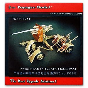 Voyager model metal etching sheet PE35067 German FLAK18 8.8cm antiaircraft gun upgrade metal etch (AFV CLUB)