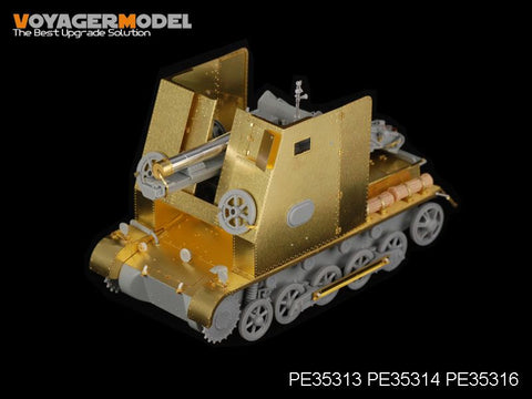 Voyager PE35314 1 type B 15cm self propelled heavy infantry artillery armor plate transformation metal etching parts