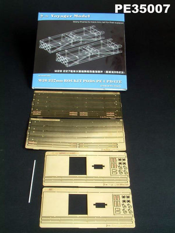 Voyager model metal etching sheet PE3500 7 M26 227 mm MLRS rocket shell hatches upgrade kit