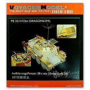 Voyager model metal etching sheet PE35147 38 (T) reconnaissance chariot 2CM Kw.K.38 mounted Upgrade Kit