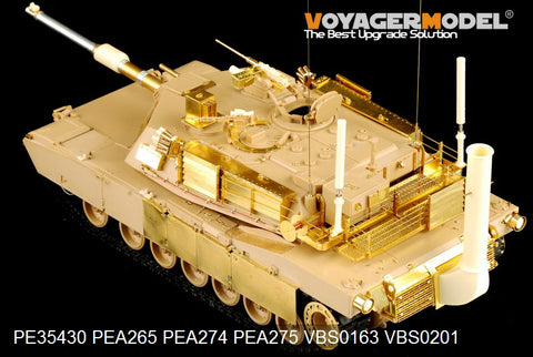Voyager pea 275m1a1 / m1a2 metal etching part for main battle tank side skirt panel reconstruction ( for t club )