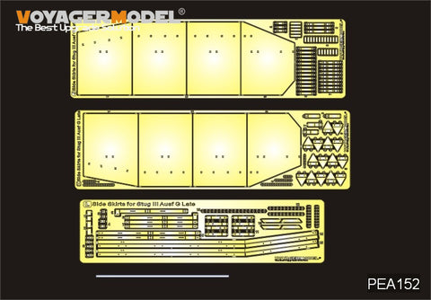 Voyager PEA152 3 assault gun G type late side additional armor plate metal etch.
