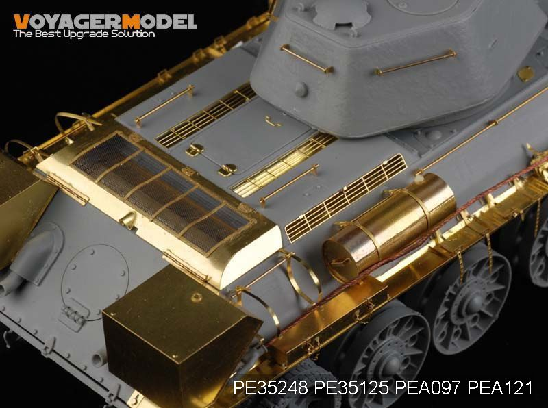 Voyager PE35248 T-34/76 mid size chariot 1943 type upgraded metal etching parts (Dragon)