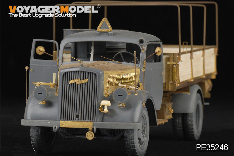 "Voyager PE 35246 World War II Opel ""Lightning"" 3 ton truck upgrade for metal etching parts"