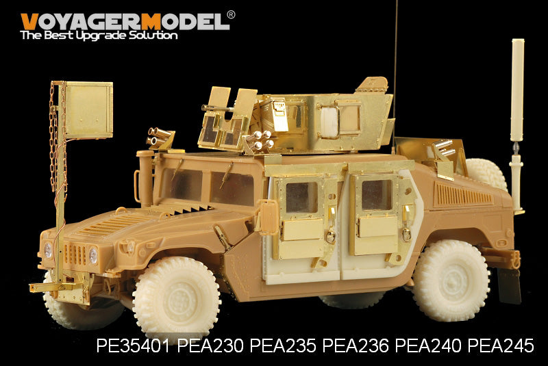 "Voyager PEA245 modern American ""Hummer"" off-road vehicle is super clay tyres (resin)."
