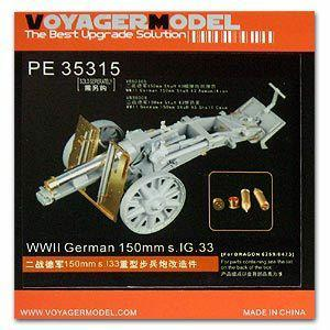 Voyager PE35315 S. IG .33 15cm metal etching for the upgrade of traction heavy infantry guns