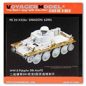 Voyager PE35143 Metal etching for the upgrade of the German 38t light tank G type in World War II(Dragon)