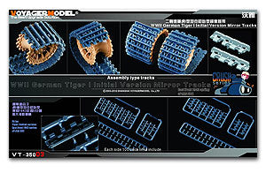 Voyager model metal etching sheet VT-35003 World War II German Tiger I tank very early type mirror track
