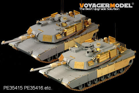 Voyager model metal etching sheet VBS0163 American M1A1/M1A2 main battle tank with M256 artillery metal cannon and smoke bomb.