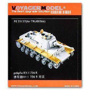 Voyager model metal etching sheet PE35137 World War II KV-1 756 (r) heavy vehicle metal etched upgrade kit