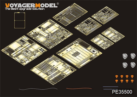 Voyager model metal etching sheet PE35500 m1070 heavy equipment transport vehicle external modification metal etching part ( Hobbyboss )
