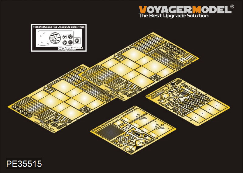 Voyager PE35515 Bushinnagh L4500S 4.5 ton truck upgraded metal etch