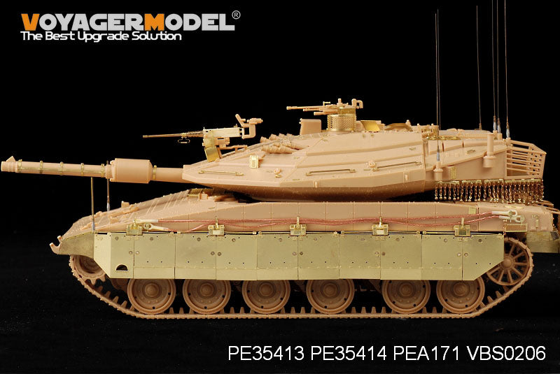Voyager model metal etching sheet PE35414 Israeli Merkava 4LIC main battle tank upgrade metal etching with side skirts
