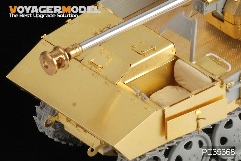Voyager model metal etching sheet PE35368 Steyr RSO chassis carries PaK40/4 self propelled artillery cockpit retrofit etch.