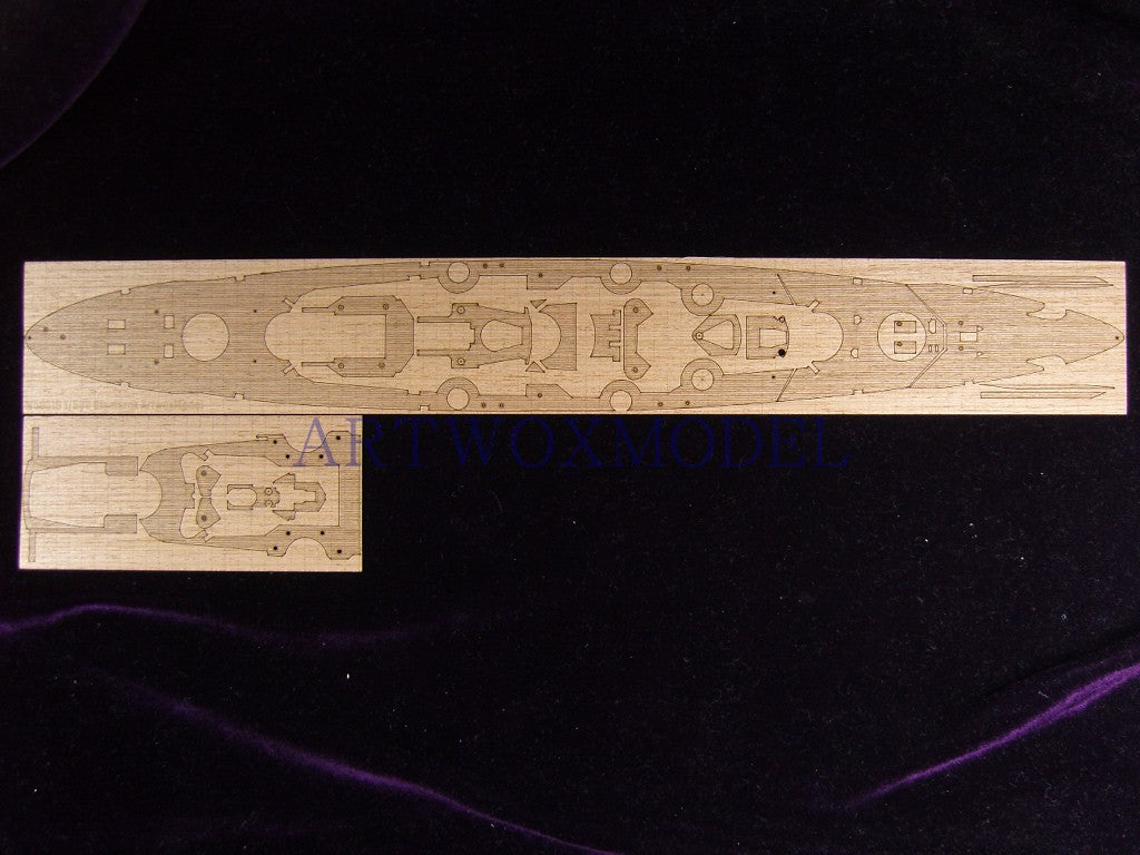 Artwox airpix a4204 WWII german battleship Bismarck wooden deck aw 50019