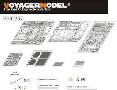 Voyager PE35257 leopard repair vehicle carrying 4 turret upgraded metal etch (CH6340)