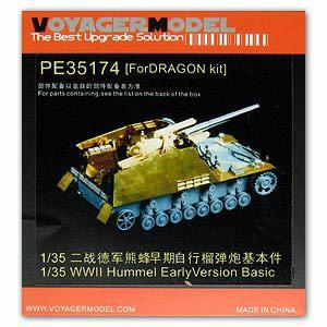 "Voyager model metal etching sheet PE35174 "" bumblebee"" 15cm self-propelled howitzer prophase type upgrade metal etching piece"