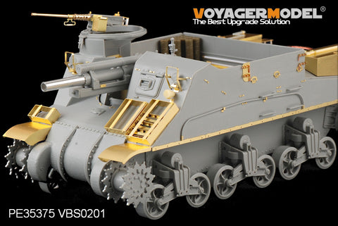 Voyager PE35375 M7 pastor 105mm self propelled howitzer mid-term upgrade metal etch (Dragon)
