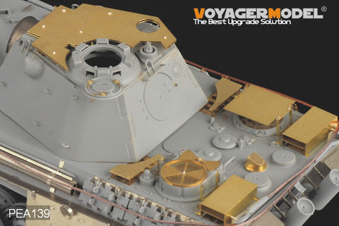 Voyager model metal etching sheet PEA139 leopard type F air defense additional armor plate metal etch