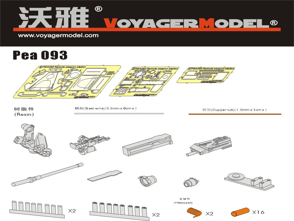 Voyager model metal etching sheet PEA093 modern US Army army M151 armored vehicle vehicle weapon station