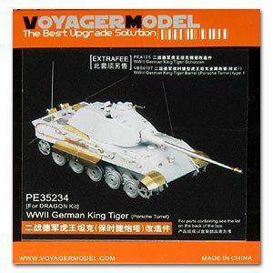 Voyager PE35234 Metal etching parts for pre-upgrade of Tiger King heavy combat vehicles(for D/T)