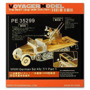 Voyager PE35299 Sd. Kfz .7 / 1 2cm Metal etching pieces(dragons) for upgrading of air-to-air combat vehicles