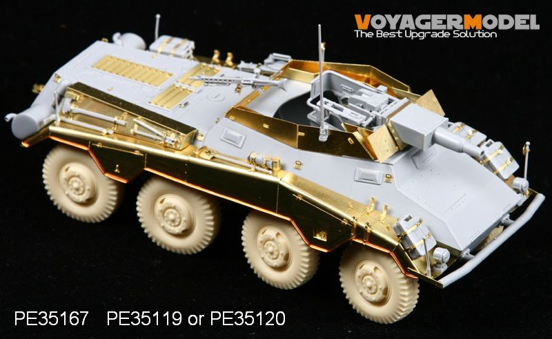 Voyager PE35167 Metal etching (Weilong) for upgrading of Sd.Kfz.234/3 wheeled armored vehicle