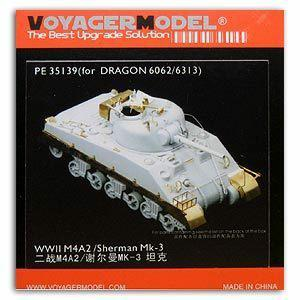 Metal etchings for Voyager model metal etching sheet PE35139 M4A2 Sherman / Sherman MK.3 for upgrading and upgrading of combat vehicles