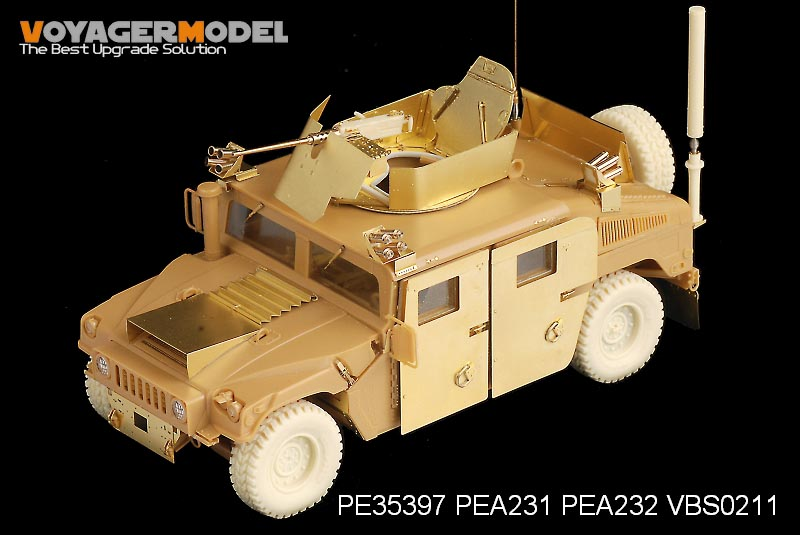 "Voyager PEA232 modern US Army M1114 ""Hummer"" tactical vehicle with additional space armo"