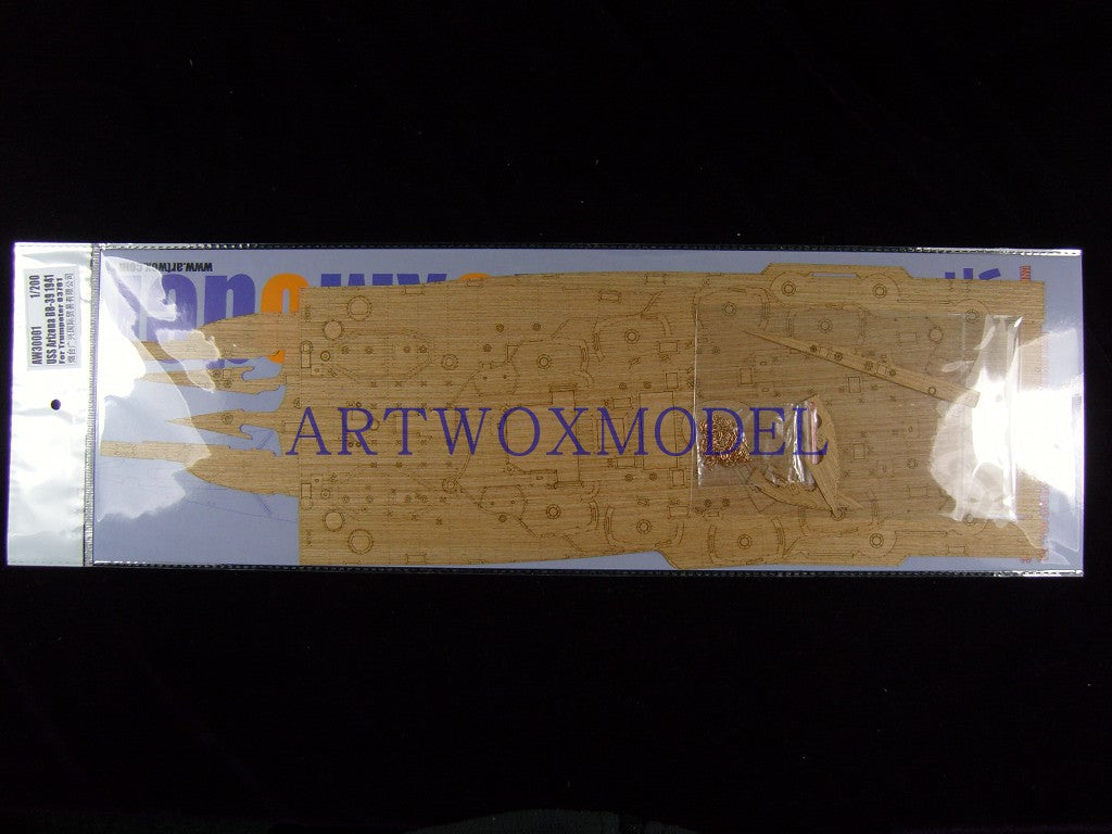 Artwox model wooden deck for trumpeter 03701 American Arizona battleship BB-39 1941 wooden deck AW30001