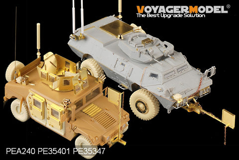"Voyager model metal etching sheet PEA240 US Army ""Rhinoceros"" vehicle IED signal jammer metal etching pieces(2 sets)"